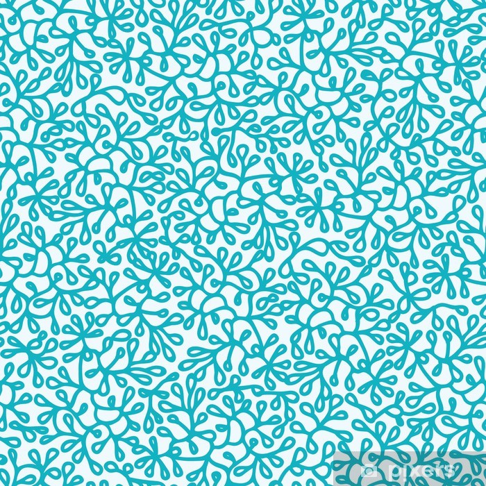 Vector Abstract Underwater Plants Seamless Pattern Background Washable Wall Mural - Textures