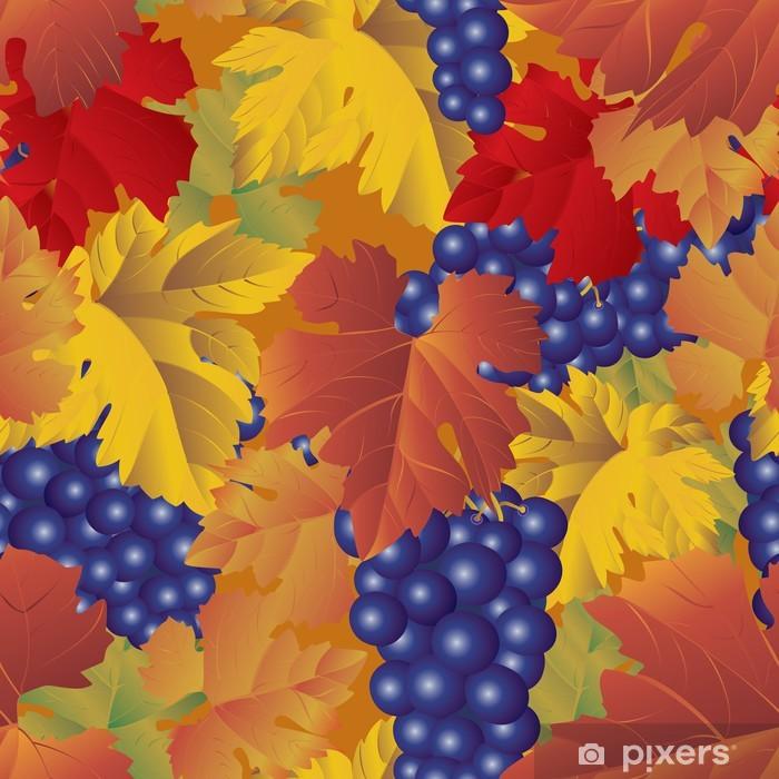 Papier peint vinyle Raisins - seamless pattern - Saisons