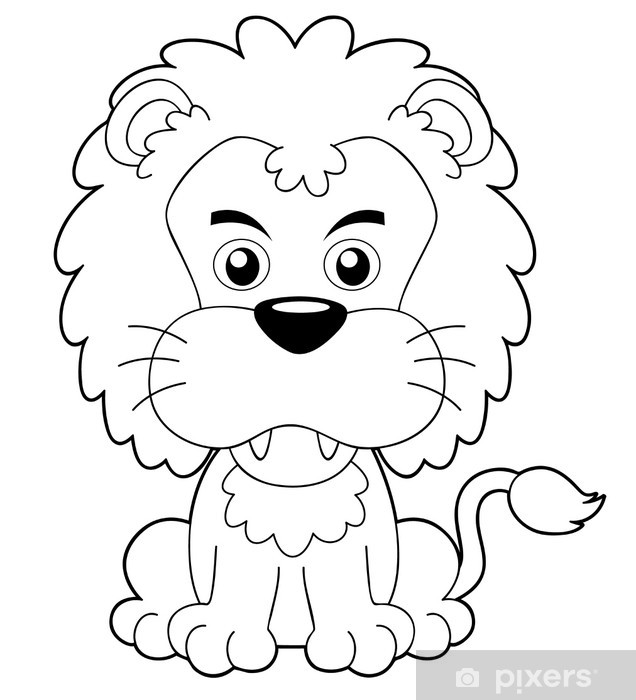Illustration Of Cartoon Lion Outline Wall Mural Pixers We Live To Change Choose from over a million free vectors, clipart graphics, vector art images, design templates, and illustrations created by artists worldwide! illustration of cartoon lion outline wall mural pixers we live to change