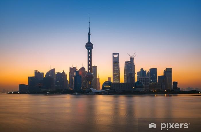 Fototapeta winylowa Shanghai skyline - Miasta azjatyckie