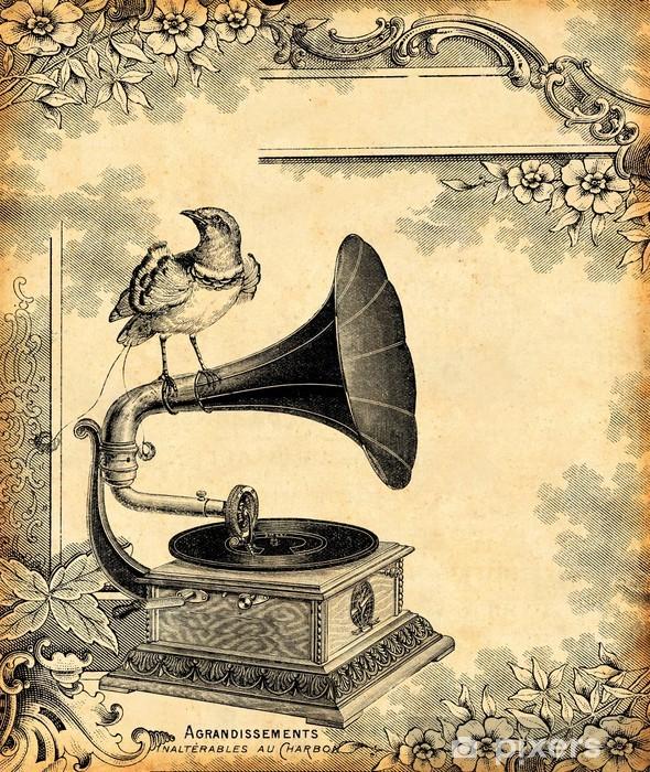 Naklejka Pixerstick Gramofon 1900 - Style