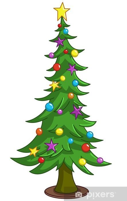 Weihnachtsbaum Comic.Fototapete Cartoon Weihnachtsbaum