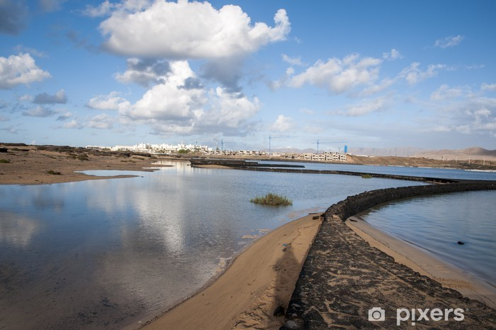Papier peint vinyle Lanzarote plage - Eau