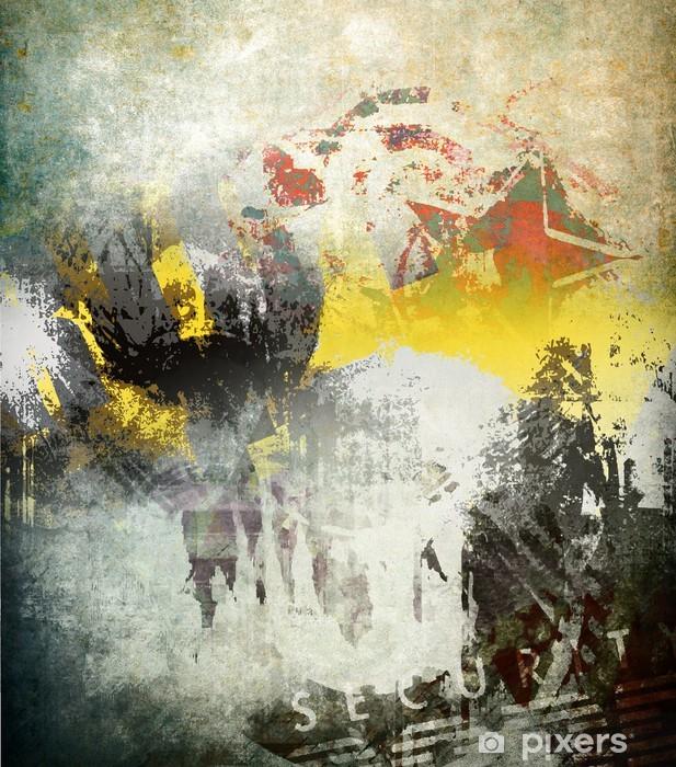 Naklejka Pixerstick Sztuki grunge, kolorowych ilustracji - Tła