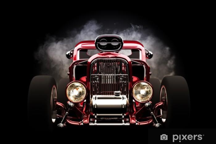 Naklejka Pixerstick Hotrod z dymu tle - Tła