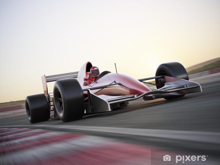 Vinyl Fotobehang Indy car racer met vage achtergrond - Thema's