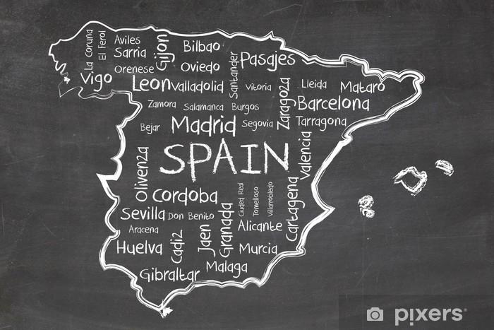 Sticker Pixerstick Espagne sur le tableau noir - Vacances