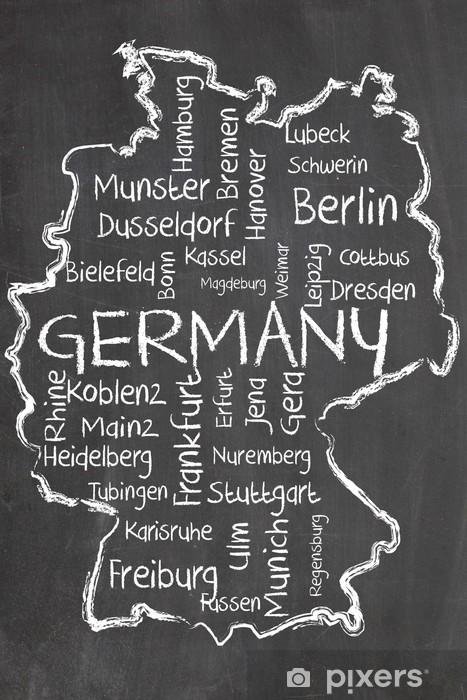 Vinyl Fotobehang Duitsland op bord - Duitsland
