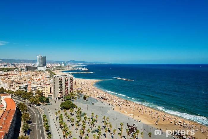 Vinylová fototapeta Letecký pohled na přístav čtvrti v Barceloně, ve Španělsku - Vinylová fototapeta