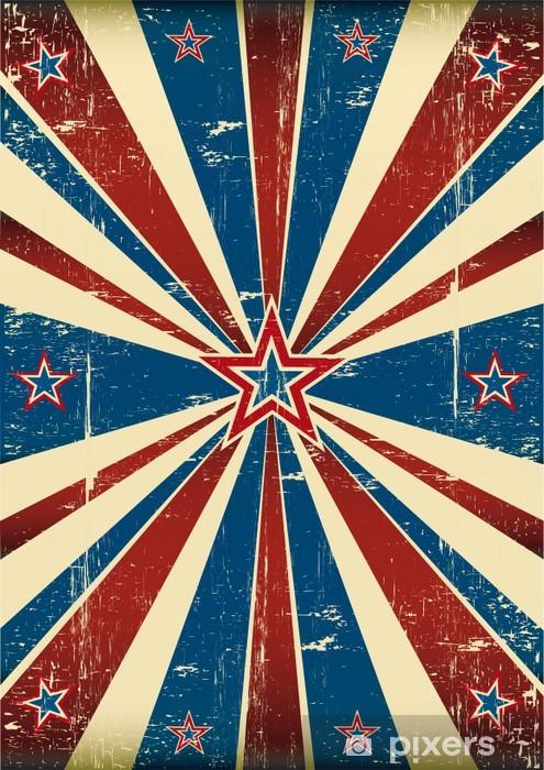 Naklejka Pixerstick Amerykański brudny plakat - Świętowanie