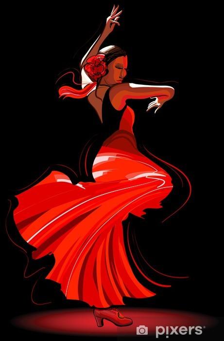 Papier Peint Autocollant Flamenco danseuse - Thèmes