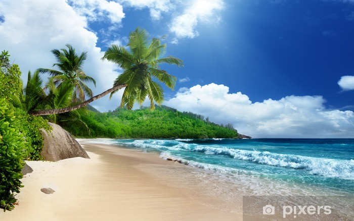 Vinilo Pixerstick Playa en la isla de Mahe, Seychelles - Temas