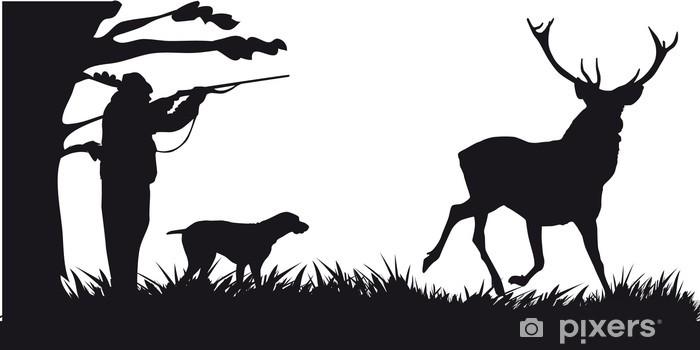 Fotomural Estándar Motivo de caza de animales y paisajes - Naturaleza y zonas salvajes