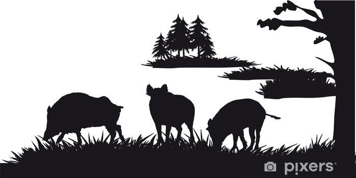 Fototapeta winylowa Motyw polowania zwierząt i krajobrazów - Natura i dzicz