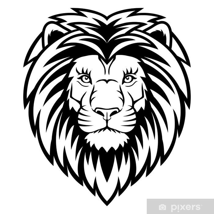 Poster Tête de lion - Mammifères