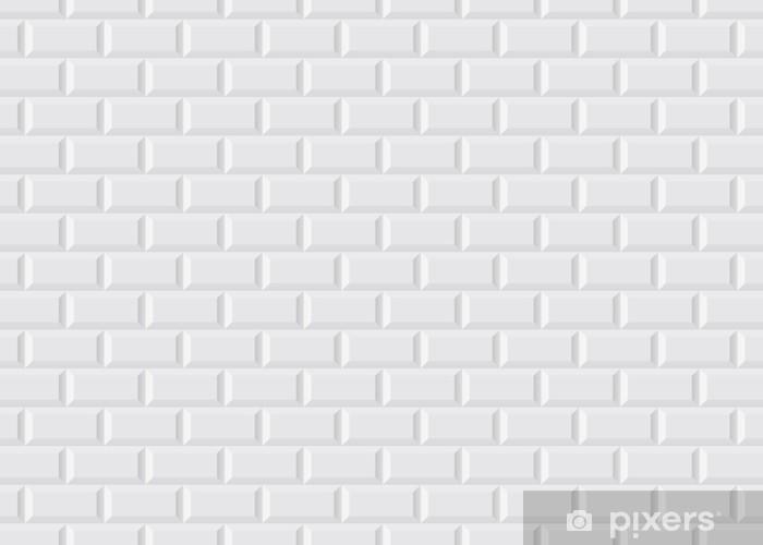 Carrelage blanc metro Pixerstick Sticker - Styles
