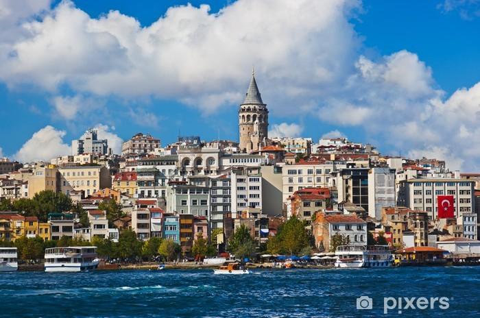 Istanbul Turkey view Pixerstick Sticker - Holidays
