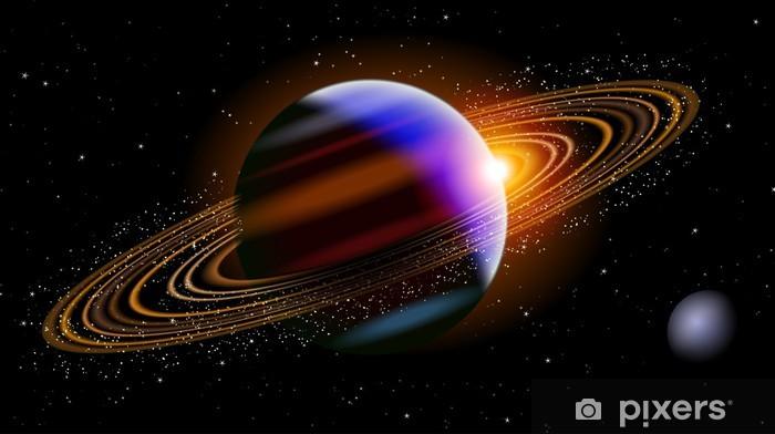 Papier peint vinyle Saturne dans l'espace - Étoiles