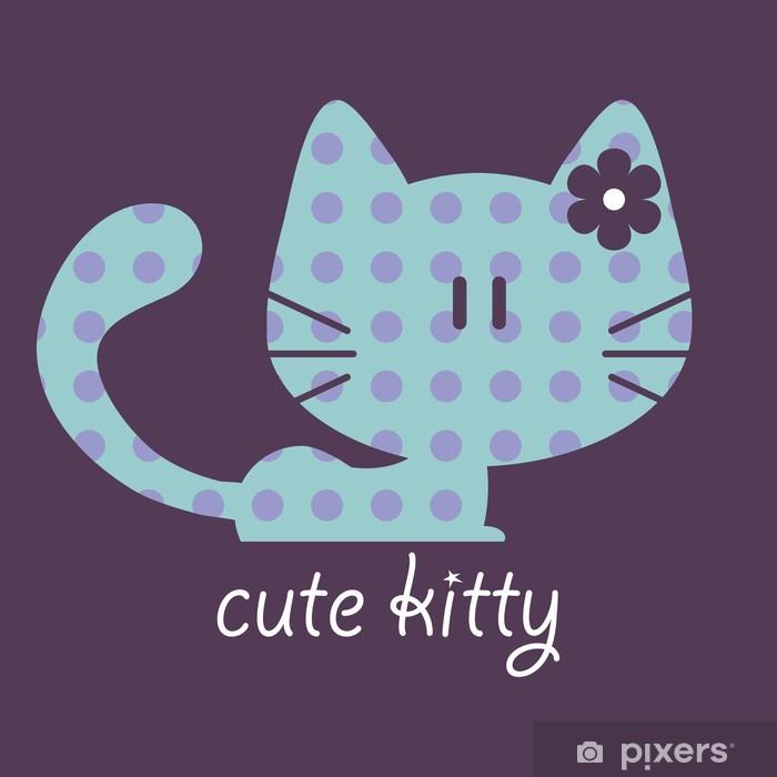 Plakat Ilustracja Cute Kitty - Ssaki