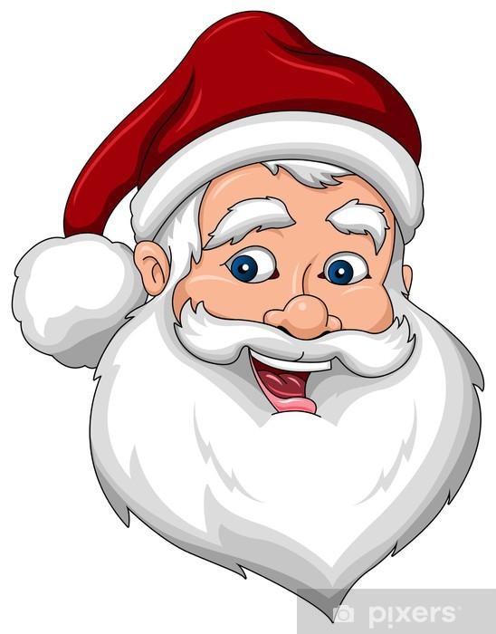 Vinylová fototapeta Šťastný Santa Claus obličej pohled z boku - Vinylová fototapeta
