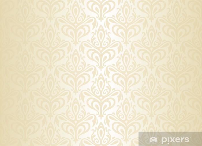 White Gold Vintage Wallpaper Sticker Pixerstick