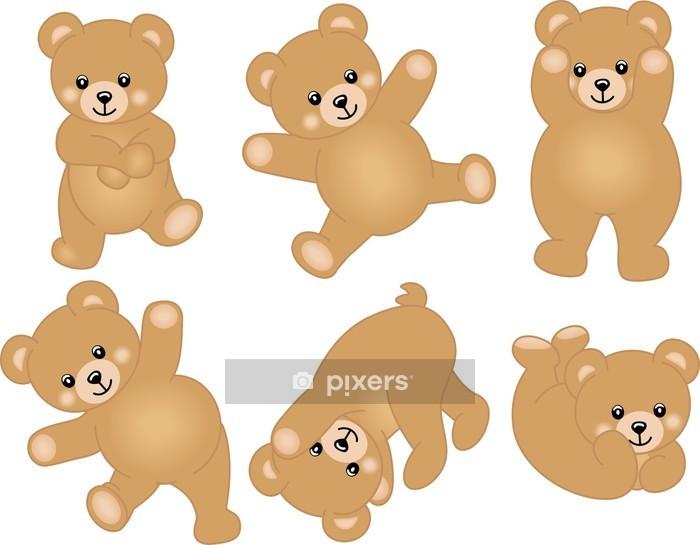 Sticker mural Cute Baby Teddy Bear - Sticker mural