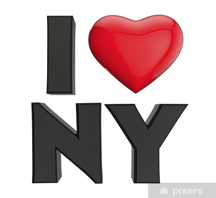 Poster Je Lov de New York - Bonheur