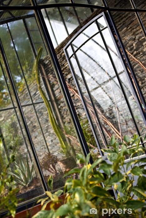 Naklejka Pixerstick Weranda, dom, szklarnia, ogród, rośliny, ogród, zielony - Dom i ogród