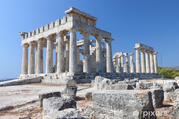 Fotomural Estándar Templo de Aphaea Athina en la isla de Egina en Grecia. - Temas