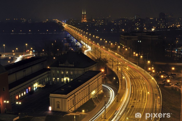 W-Z Route (East-West Route) in Warsaw, Poland Vinyl Wall Mural - Themes