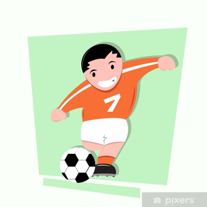 Fototapete Fussball Cartoon Kinder