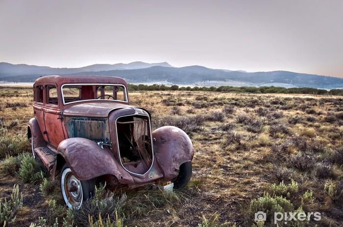 Vinilo Pixerstick Coches de época abandonada - Montana, EE.UU. - América