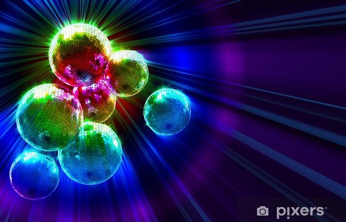 Papier peint vinyle Funky fond sombre avec des boules de miroir de disco - Divertissements