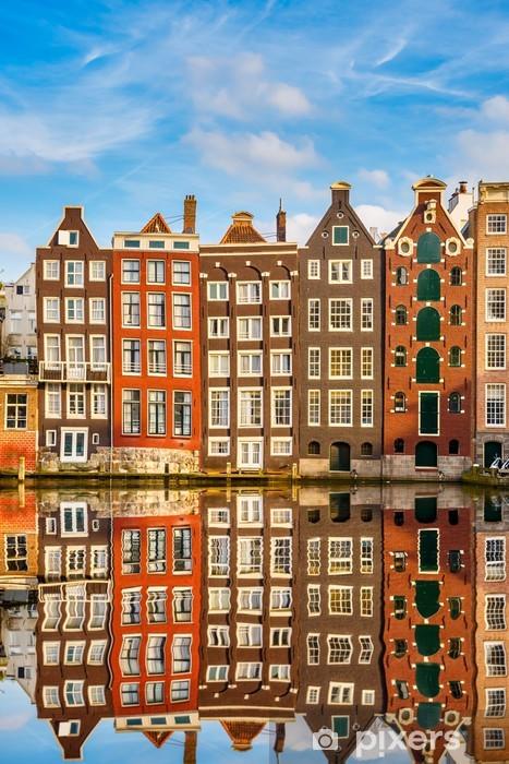 Fototapeta winylowa Tradycyjne holenderskie budynki, Amsterdam - Tematy