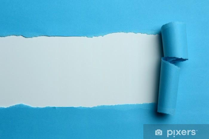 Papier Peint Autocollant Torn Livre Bleu
