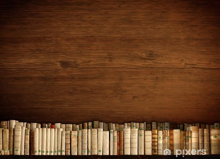 Naklejka Pixerstick Półka na drewnianej ścianie - Tekstury