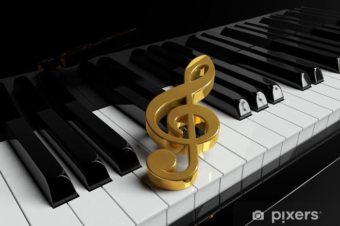 Papier peint vinyle Touches de piano Gros plan - Piano à queue