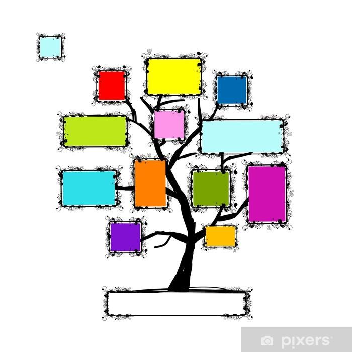 Naklejka Pixerstick Drzewo sztuki z ramkami, miejsce dla tekstu lub fotografii - Drzewa