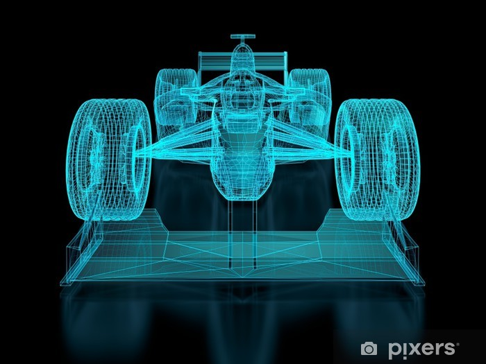 Vinylová fototapeta Formula One Mesh - Vinylová fototapeta