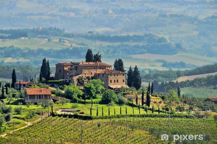 Papier peint vinyle Toscane vignoble 04 - Thèmes