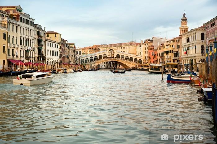 Vinyl-Fototapete Rialto Brücke in Venedig - Europäische Städte
