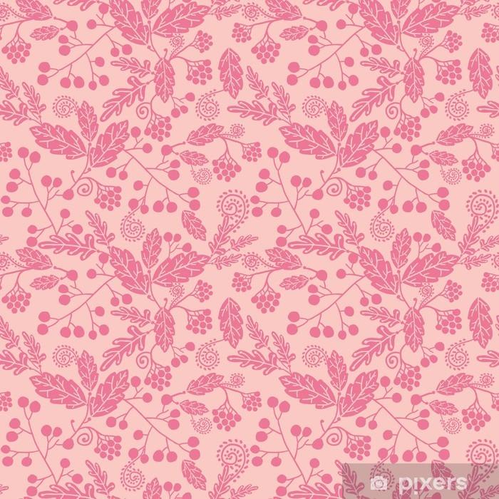 Fototapeta winylowa Wektor, sylwetka, kwiaty elegancki różowy wzór bez szwu - Rośliny i kwiaty