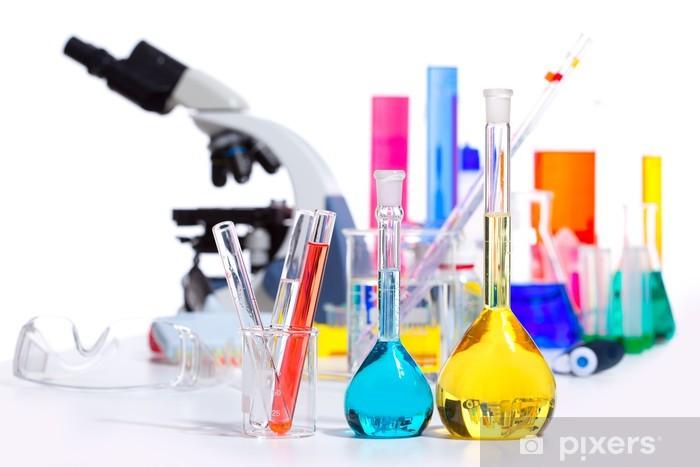 Papier peint vinyle Trucs flacon tube à essai chimique scientifique de laboratoire - Sciences fondamentales et appliquées