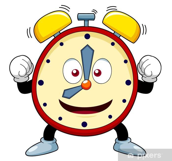 illustration of Cartoon alarm clock Sticker • Pixers® - We live to change