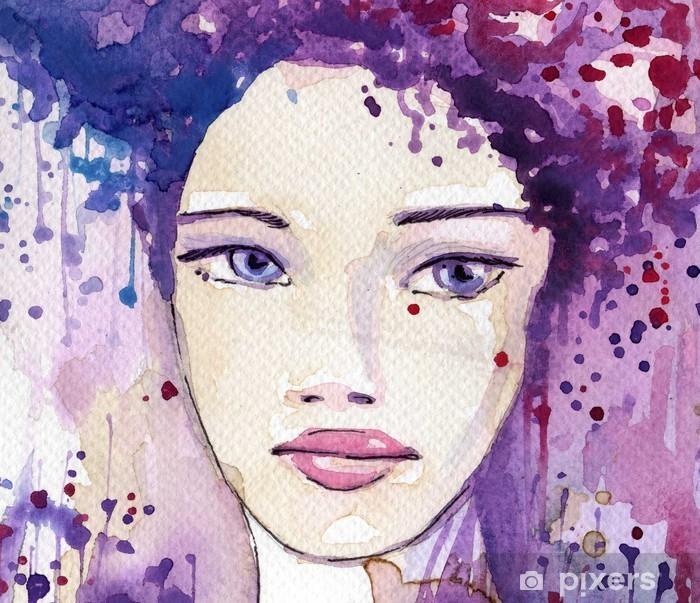 Papier peint vinyle Belle jeune femme - Femmes
