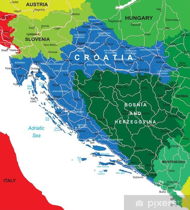 Kroatia Kartta Tapetti Pixers Elamme Muutoksille