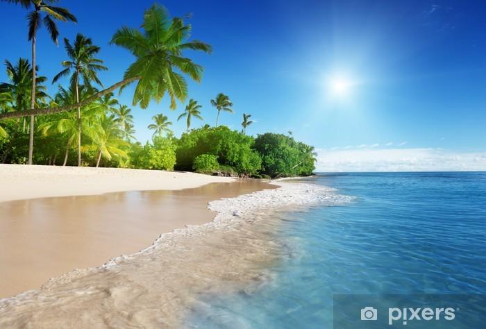 Naklejka Pixerstick Morze Karaibskie i palmy - Tematy