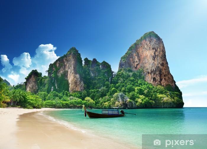 Railay beach in Krabi Thailand Pixerstick Sticker - Themes