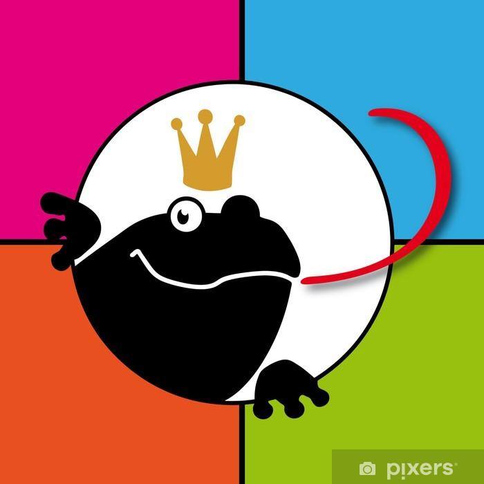 Sticker Pixerstick Frog King - Bonheur