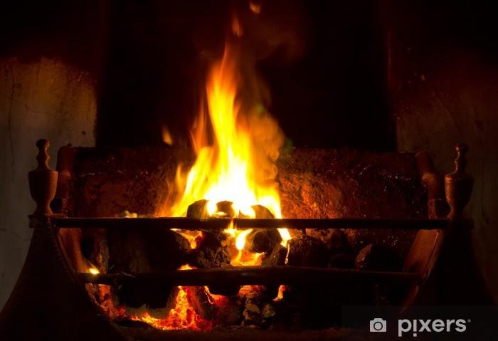 Fototapeta winylowa Otworzyć ogień węgla - Tekstury